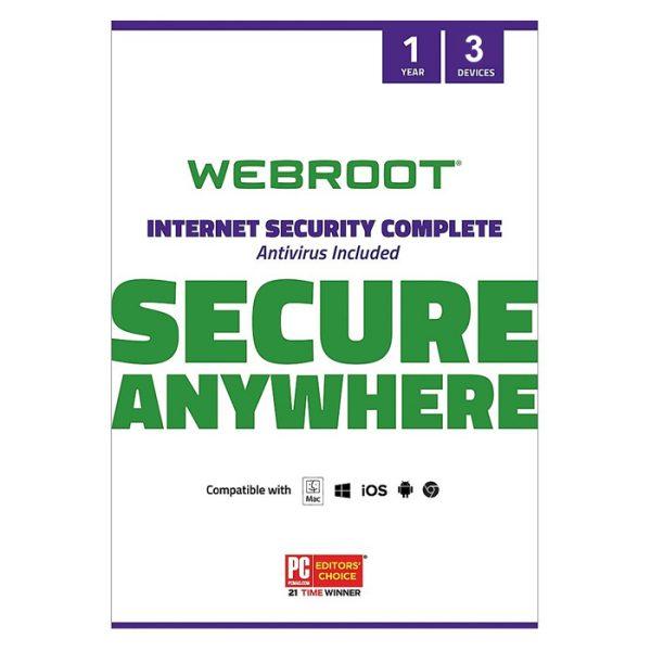 Webroot SecureAnywhere Internet Security Complete 3 DEV/ 1 YEAR