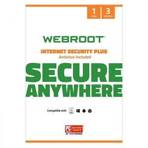 Webroot SecureAnywhere Internet Security Plus 3 DEV/ 1 YEAR